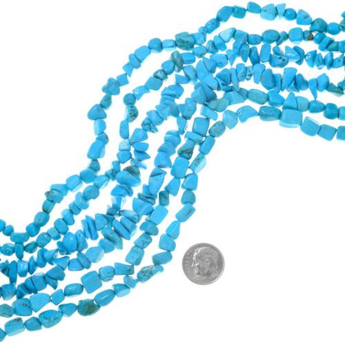 Blue Turquoise Magnesite Beads 37242