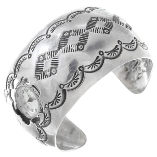 Ladies Vintage Sterling Silver Navajo Watch 40942