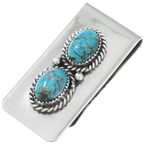 Native American Turquoise Money Clip 41025