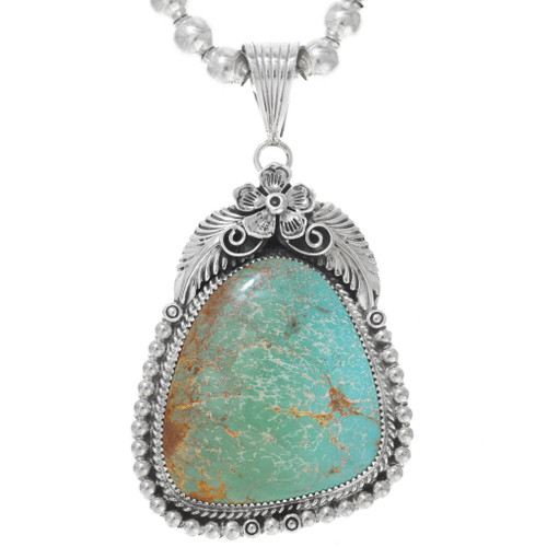 Number 8 Turquoise Large Pendant 29436