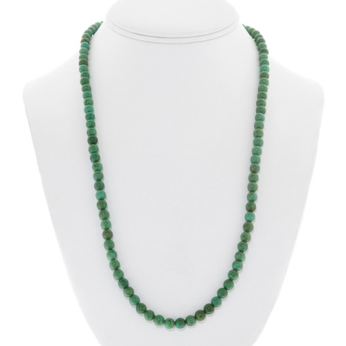 Navajo Green Turquoise Beaded Necklace 41346