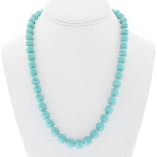 Vintage Genuine Turquoise Bead Necklace 41350