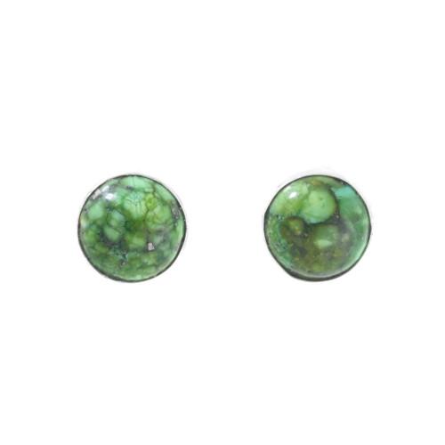 Navajo Green Turquoise Earrings 41360