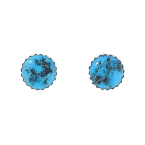 Natural Turquoise Native American Earrings 41376