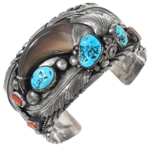 Genuine Bear Claw Navajo Turquoise Bracelet 41524