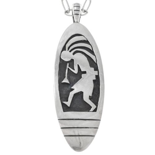 Sterling Silver Hopi Kokopelli Pendant 41547
