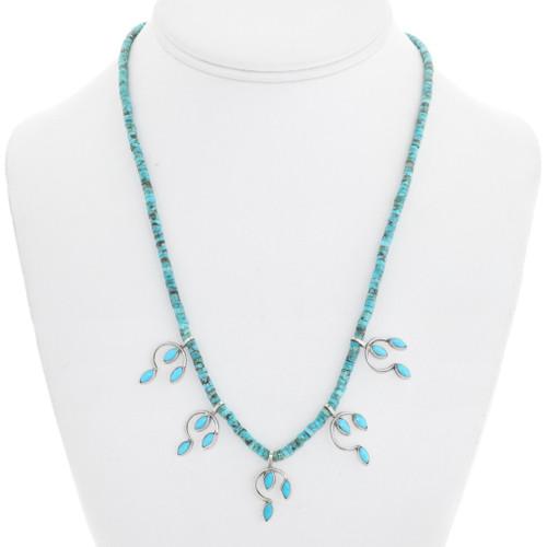 Navajo Turquoise Heishi Necklace 41550