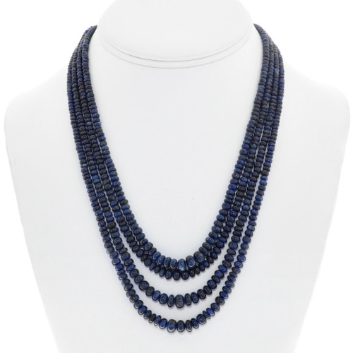 Vintage Beaded Sapphire Necklace 41555