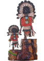 Three Sunface Kachina Display 21031