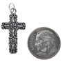 Sterling Silver Cross Charm Bracelet Pendant Necklace 1