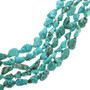 Turquoise Magnesite Bead Nuggets 30868