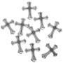 Sterling Silver Cross Pendant Charm Bracelet Necklace SM