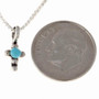 Turquoise Silver Teen Cross Pendant 24711