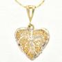Gold Silver Heart Pendant Set 22777