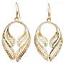 Filigree Patterned Dangle Earrings 22777