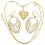 Gold Silver Pendant Set 22777