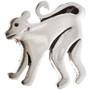 Silver Monkey Hat Pin Tie Tack 15392