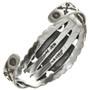 Spiderweb Turquoise Silver Concho Bracelet 24320