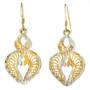 Gold Silver Swirl Earrings 22780