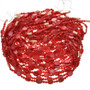4mm and 8mm Red Pearl Beads 16 inch Long Strand