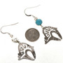 Native American Bear Dangle Earrings 26206
