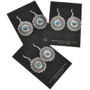 Southwest Hammered Silver Concho Earrings 15788