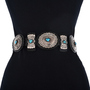 Navajo Sleeping Beauty Navajo Concho Belt 12920