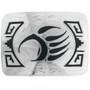 Silver Bear Paw Belt Buckle 23359