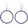 Blue Lapis Silver Hoop Earrings 19482