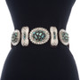 Nevada Turquoise Cluster Concho Belt 25627