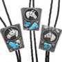 Turquoise Nugget Horse Bolo Ties 24184