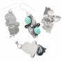 Navajo Sterling Leaf Jewelry Set 25870