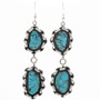 Sterling Turquoise Native American Earrings 23816