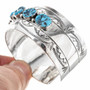 Turquoise Hammered Silver Bracelet 18392