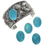 Unmounted Turquoise Cabochons 20622