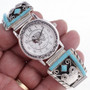 Silver Turquoise Mens Watch 24444
