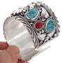 Navajo Big Boy Sterling Cuff Bracelet 15868