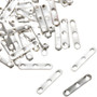 Silver Findings 50 pair of Silver 3 strand Necklace Spacers 1mm 0088