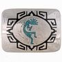 Inlaid Silver Turquoise Buckle 23287