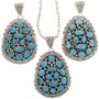 Turquoise Cluster Pendant 16234