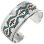 Navajo Rug Pattern Turquoise Cuff 13149