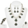 Navajo Green Turquoise Necklace Set 11250