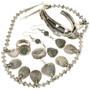 Southwest Silver Turquoise Necklace Set 11250
