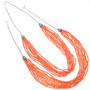 Navajo Made Pink Coral and Sterling Silver Necklace  23457
