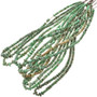 4mm to 9mm Variscite Tube and Rondel Beads 16 inch Long Strand