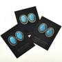 Turquoise Silver Twist Wire Earrings 22381