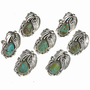 Handcrafted Turquoise Silver Ladies Rings 23703