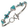 Turquoise Silver Tennis Bracelet 11514