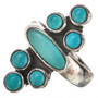 Turquoise Silver Multistone Ring 11514