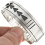 Silver Overlaid Cuff Bracelet 24832